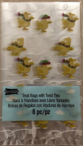 Studio 18 Treat Bags with Twist Ties Little Chicks Skating (Skating Chick)
