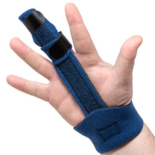 Trigger Finger Splint- Finger Brace for Trigger or Mallet Finger, Works on Any Finger, Index, Pointer, Ring Finger, or Pinky, by American Heritage Industries