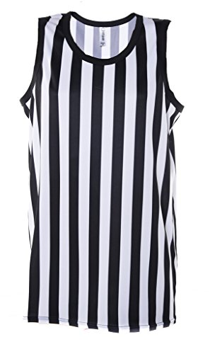 Mato & Hash Referee Tank Top for Men | Referee Uniform Top for Waiters, Costumes, More! - Black/White CA2250 L]()