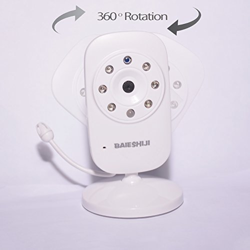 Baby Monitor, Video Baby Monitor 3.5'' Large LCD Screen, Baby Monitors with Camera and Audio Night Vision,Support Multi Camera,ECO Mode,Two Way Talk Temperature Sensor,Built-in Lullabies (3.5 inch) by BAIESHIJI (Image #7)