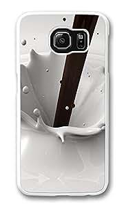VUTTOO Rugged Samsung Galaxy S6 Edge Case, Chocolate Milk Splash PC Plastic Hard Case Cover for Samsung Galaxy S6 Edge PC Transparent