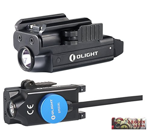 OLIGHT PL-MINI valkyrie 400 Lumen LED Rechargeable compact pistol light, Build-in Lithium Battery, charging cable, quick release mount for glock, s&w, springfield, sig sauer, etc w/LegionArms sticker (960 Mah Standard Battery)