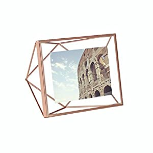 Sh Mart Glass Photo Frame for Walls Decoration in (Brass-Copper-Black) (10 inches X 8 inches) (Black Mate)
