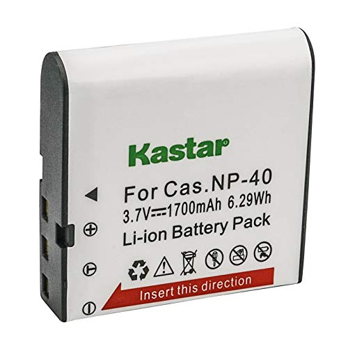 (Kastar 1 Pack Replacement Casio NP-40 Battery for Casio Exilim EX-Z1050 EX-Z750, Kodak LB-060 AZ521 AZ361 AZ501 AZ522 AZ362 AZ526, HP D3500 SKL-60 V5060H V5061U and SUN06 YCO6 Full HD Portable Camera )