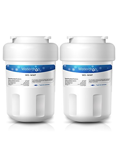 2 Pack Waterdrop MWF Replacement for GE MWF SmartWater, MWFA, MWFP, GWF, GWFA, Kenmore 9991,46-9991, 469991 Refrigerator Water Filter