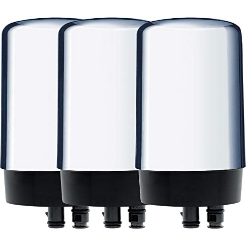 Brita Tap Water Filtration System Replacement Filters for Faucets-Chrome-3 Count, 3ct,
