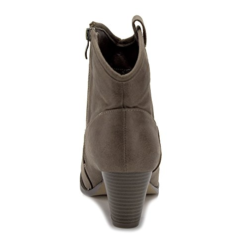 Womens Kody Korte Cowgirl Western Cowboy Bootie Boots Taupe