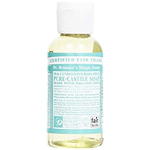 Dr. Bronner's Organic Baby Unscented Pure-Castile Liquid Soap,59 ml
