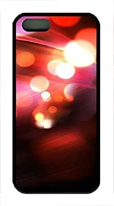 iPhone 5 5S Case Abstract Red Bokeh 13 TPU Custom iPhone 5 5S Case Cover Black