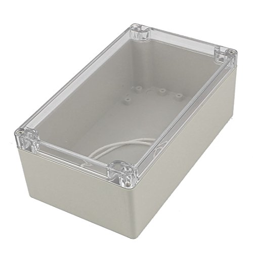 uxcell 200mm x 120mm x 75mm Clear Cover Dustproof IP65 Enclosure Case DIY Junction Box