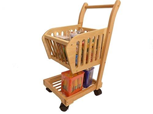 Kinder Einkaufswagen Holz - Holzspielzeug-Peitz Einkaufswagen