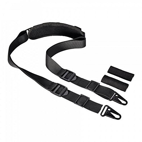 BOOSTEADY 2 Point Traditional Rifle Sling Gun Strap Length Adjustable Shoulder Pad 1.25 Inch Webbing No Plastic Components All Metal ()