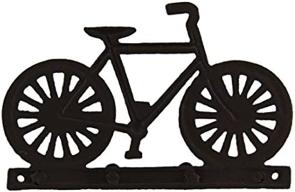 bike bicycle rustic 7.75 Wide keys Vintage Style Cast Iron Bike Hook