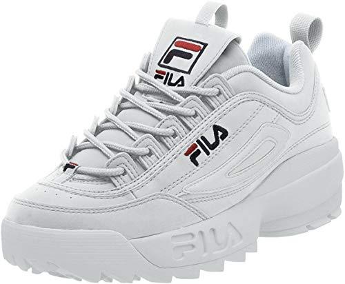 Fila Men's Disruptor II Sneaker,White/Peacoat/Vinred,9.5 M from Fila