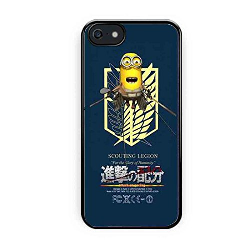 Cooliphone4Cases.com-2559-Attack On Titan Recon Corps Love Minions iPhone 5s Case, iPhone 5 Case-B01LXYMQ7U-T Shirt Design