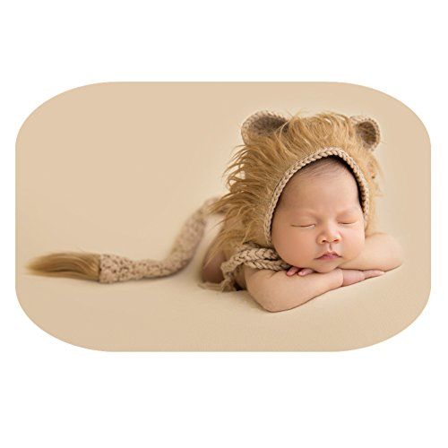 Newborn Boy Girl Handmade Baby Photography Props Outfits Photo Shoot Lion Hat Tail -