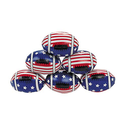 USA Stars & Stripes Patriotic Footballs for Fourth of July (Set of 12) ()