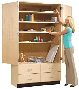 Amazon Com Tall Storage Cabinet With Drawers Kitchen