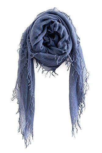 Chan LUU NEW Indigo Cashmere & Silk Soft Scarf Shawl Wrap - Indigo Silk Wrap