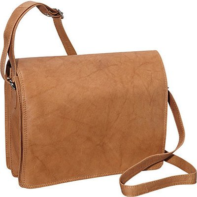 Leather Flap Bag Purse (Shoulder Bag Color: Tan)