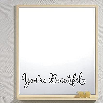 80165b742 Amazon.com  AddLife You re Beautiful English Wall Sticker Removable ...