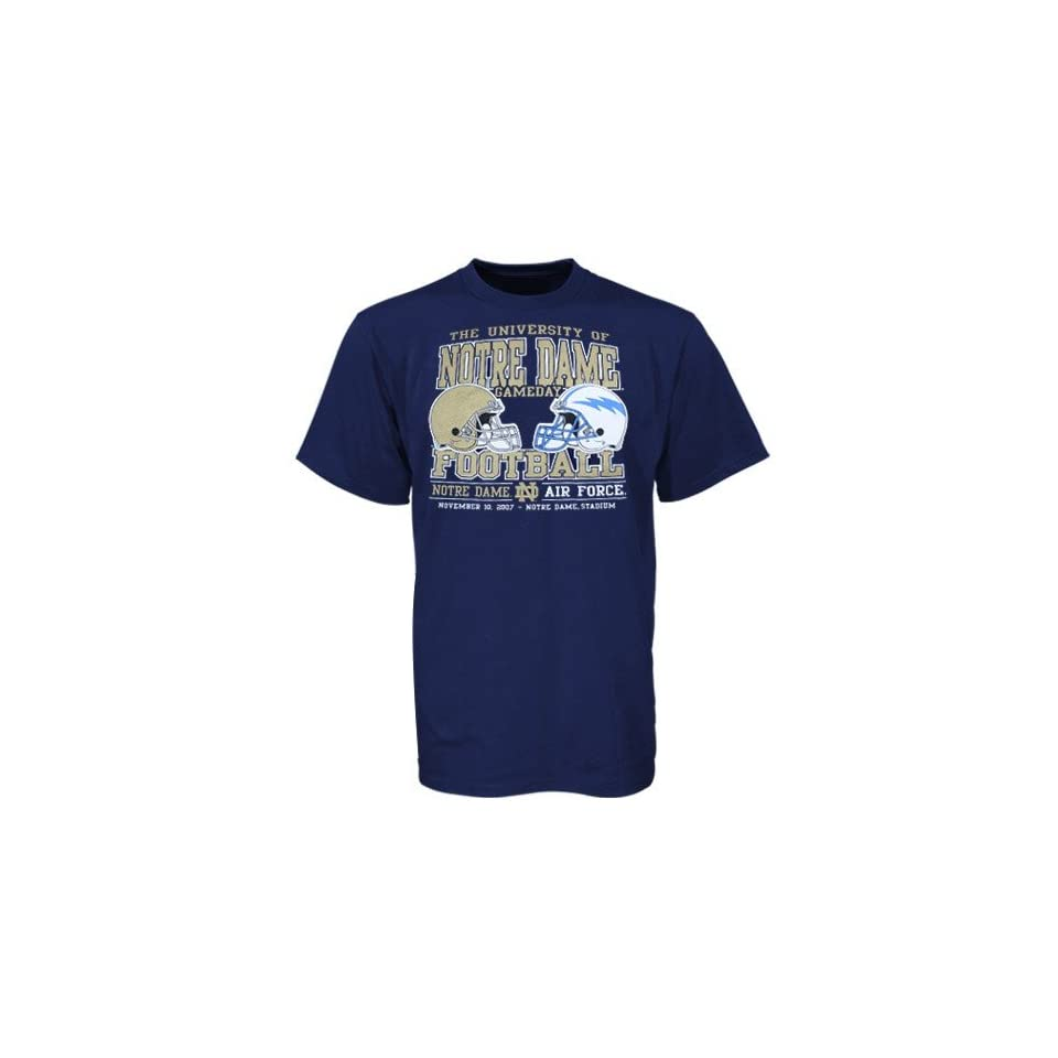 adidas Notre Dame Fighting Irish vs Air Force Falcons Navy Blue Gameday Rivalry T shirt