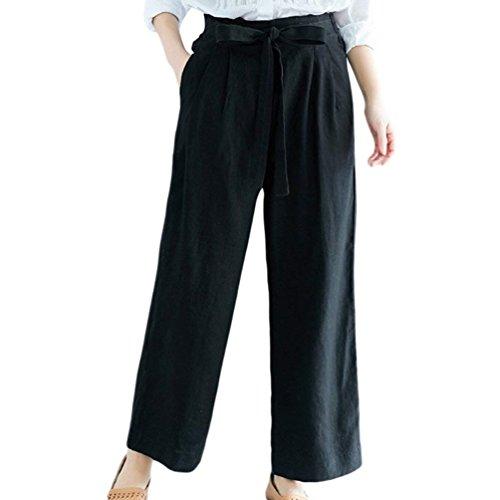Mode Monocromo Culotte Fashion Libero Pantalone Marca Baggy Di Tempo Donna Waist Estivi Cinghietti Ragazze Eleganti Nero Pantaloni High Bolawoo qpIvw0n