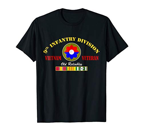 9th Infantry Division Vietnam Veteran T-Shirt Old Reliables ()