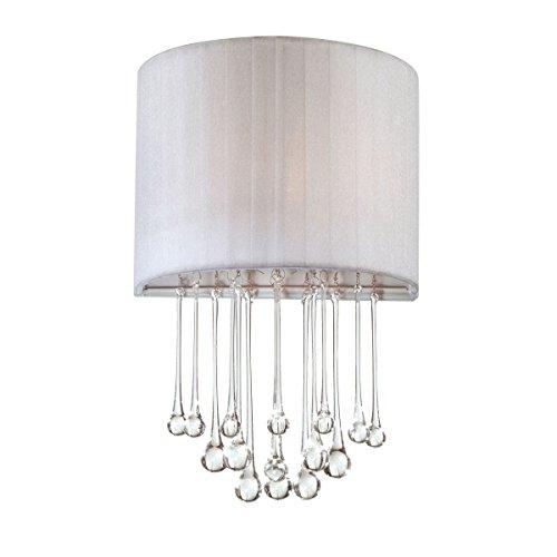 Eurofase Lighting Crystal Sconce - Eurofase 16036-031 Penchant 1-Light Wall Sconce, Chrome