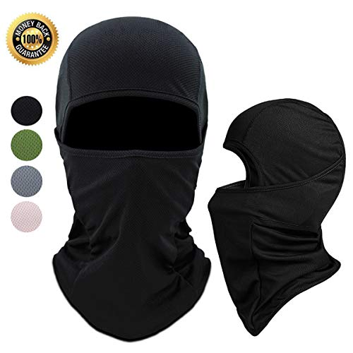 Achiou Balaclava Face Mask UV Protection for Men Women Ski Sun Hood Tactical Masks for Skiing, Cycling, Motorcycle, Fishing, Running, Outdoor Tactical Training (Black)