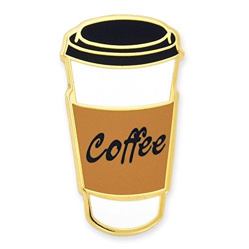 PinMart Cute Coffee to-Go Cup Trendy Enamel Lapel Pin