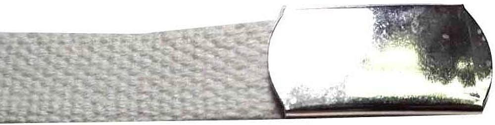 artigianale Cinturón Cinta algodón 2 cm Blanca con Hebilla Militar ...