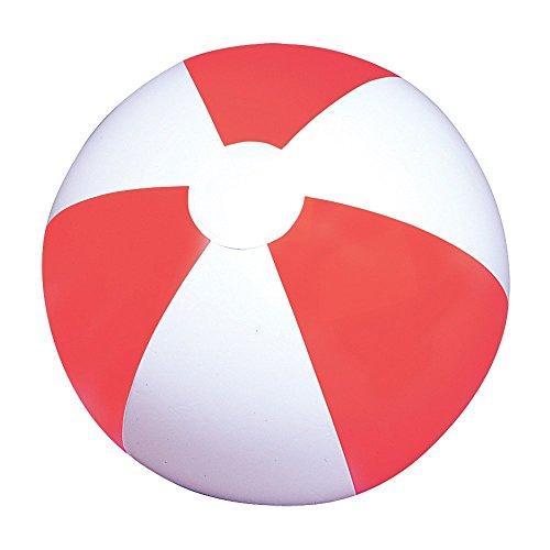 (24 (2 Dozen) RED & WHITE BEACH BALLS - 12