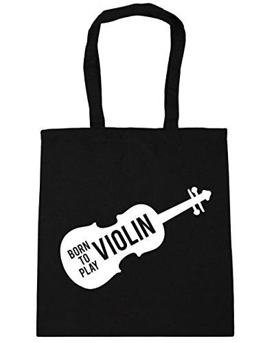 x38cm Gym litres HippoWarehouse Beach Violin Bag Born Play 10 42cm to Black Tote Shopping x66Yv7w