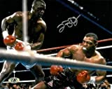 "James ""Buster"" Douglas signed 8x10 Photo (close up knockout vs Mike Tyson) - Autographed Boxing Photos"