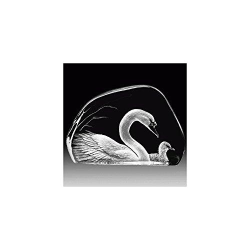 Mats Jonasson Swan Crystal Sculpture MAT33314