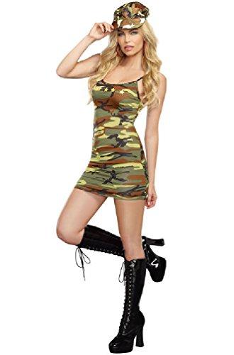 8eighteen Military Army Marine Camo Dress Adult Costume (Sexy Army Uniforms)