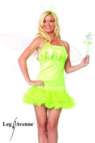 Green Fairy Dress (Leg Avenue Women's Pixie Dust Fairy Dress, Green, X-Small)