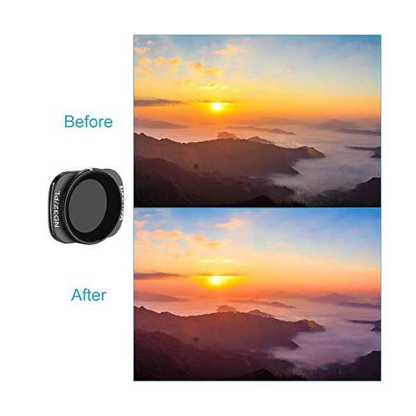 Neewer Filtri Magnetici per DJI Osmo Pocket 2/1 Fotocamera Lenti Include Filtri ND4 ND8 ND16 CPL ND32/PL ND64/PL Multi-Rivestiti con Scatola per Fotografia Esterna(Nero) 6 spesavip