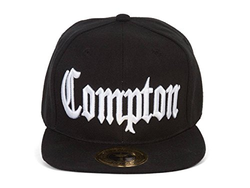 Gravity Compton California Front and Back Embroidered Snapback (Compton Hat Eazy E)