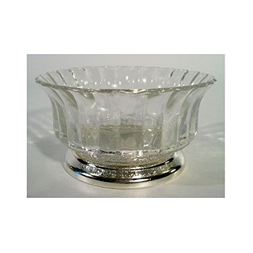 Collectors Crystal Galleries by Fairfield Genuine Crystal & Silverplate Pedestal (Gallery Pedestal Bowl)