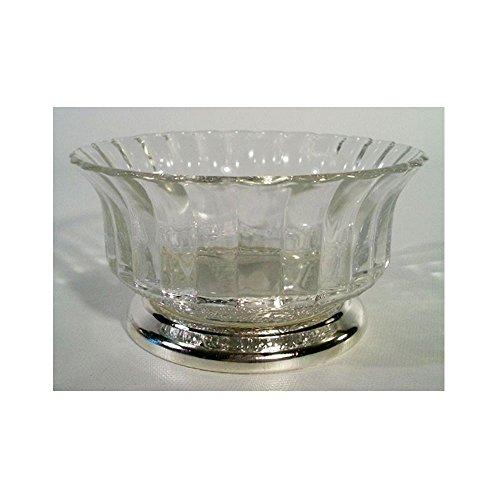 Collectors Crystal Galleries by Fairfield Genuine Crystal & Silverplate Pedestal Bowl