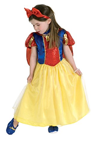 Girls Classic Cinderella Movie Costumes (Rubie's Officially Licensed Snow White Costume - Girl's Size 3-4)