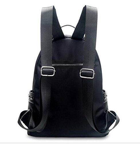 Bolsa de hombro femenina / versión coreana de la mochila de Oxford de tela de nylon de nylon / simple estudiantes de viento de la universidad bolsa / mochila de moda de moda ( Color : Rojo ) Azul