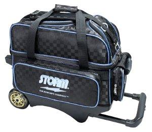 STORM 2ボールキャリーバッグ SB185-DA 全6色 B07FL281WQ ブラック+ブルー