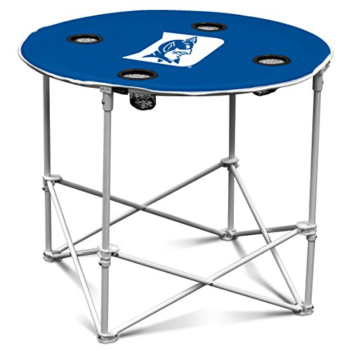 Fan Blue Devils Duke (Logo Brands Duke Blue Devils Collapsible Round Table with 4 Cup Holders and Carry Bag)