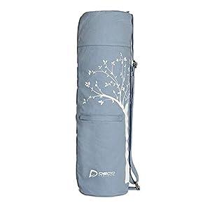 Well-Being-Matters 41mYMd60EIL._SS300_ Deco Athletic Yoga Mat Bag 2 Large Zip Pockets, Large Mesh Pocket- Room for Towel, Wallet, Keys, Water Bottle, Fits Up…