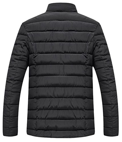 Collar Down M EKU Coat Jacket US Collar Warm Winter Men's Fur Stand Black tOxwOHS0
