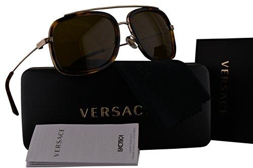 Versace VE2173 Sunglasses Pale Gold Havana w/Brown Lens 139173 VE - Sale Women's Versace Sunglasses