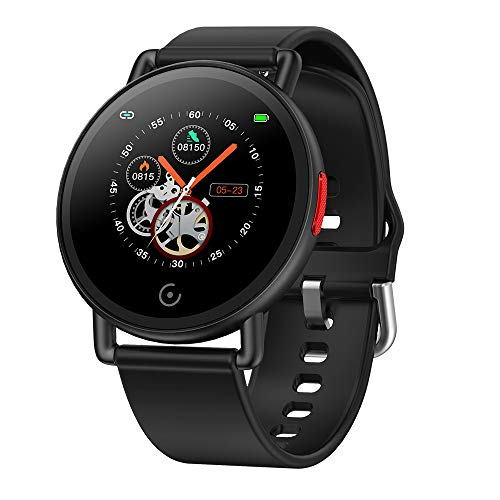 Smart Watch,Fitness Tracker,Touch Screen Round Sports Watch,Ip67 Waterproof,With Heart Rate Blood Pressure Sleep Monitor, Compatible Ios Android